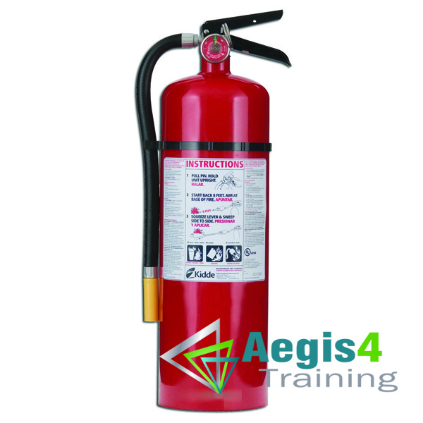 Aegis 4 training fire extinguisher